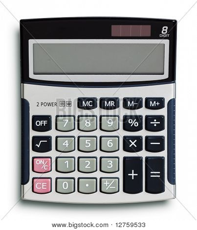 Business calculator isolated on white background