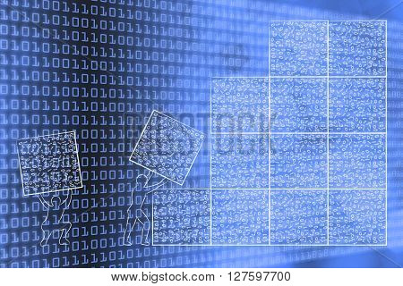 Men Lifting Blocks Of Messy Binary Code To Build A Software Architecture
