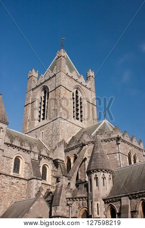 Details of Christ Church Cathedral of Dublin in Ireland