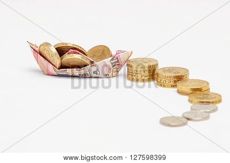 Pension Investment wealth success concept abstract boat growth