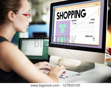Shopping Marketing Purches Shopaholic Spending Concept