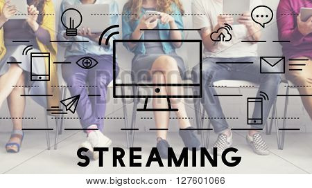 Streaming Media Digital Electronic Technology Concept