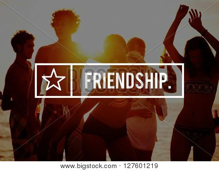 Friends Friendship Friendly Gang Group Concept