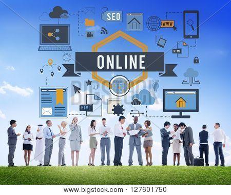 Online Network Internet Connection Digital Concept