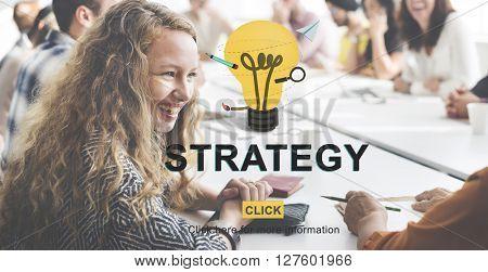 Strategy Vision Planning Tactics Process Strategics Concept
