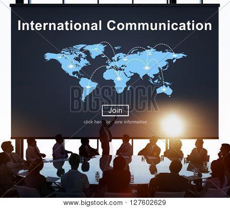 International Communication Global Communicate Concept