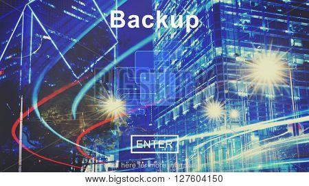 Backup Data Storage Restore Database Concept