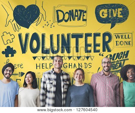Volunteer Charity Helping Hands Give Concept