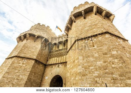 Towers Of Serranos In Valencia . Spain.