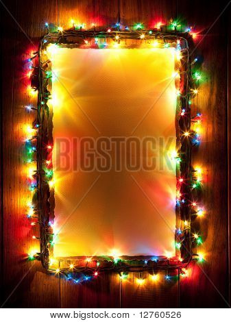 Christmas lights, abstract color background