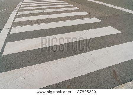 Zebra crossing road
