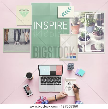 Inspire Aspiration Expectation Imagination Concept