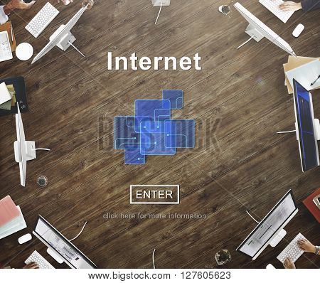 Internet Technology Devices Business Office Concept