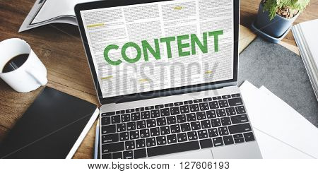 Content Data Internet Media Sharing Cheerful Concept