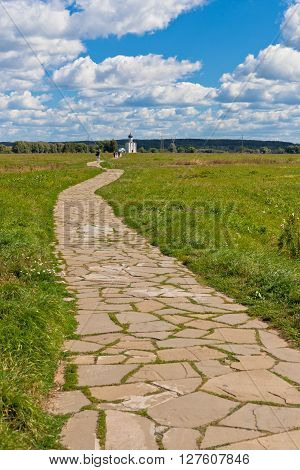 Way To Russian Famous Church