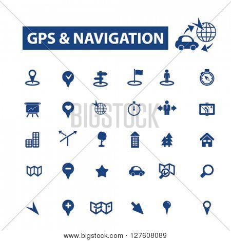gps navigation icons