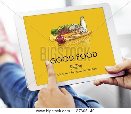 Good Food Good Mood Eating Nutrition Organic Concept