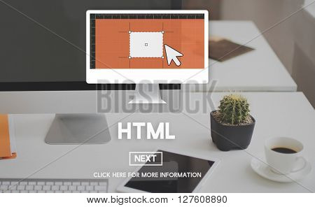 HTML Coding Computer Homepage Internet Network Concept