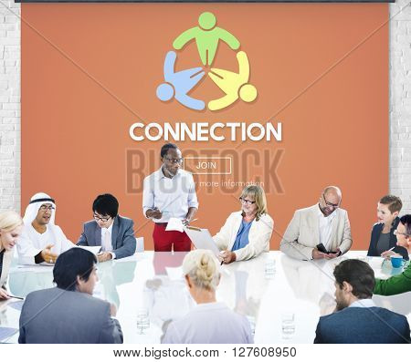 Connection Support Group Team Helping Hand Concept