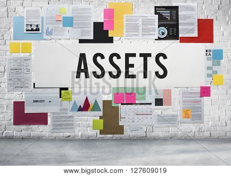 Assets Benefit Bonus Bookkeeping Budget Capital Concept