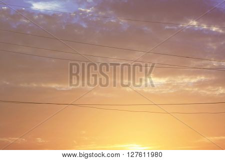 Sky View Beauty Nature Dusk Dawn Sun View Concept