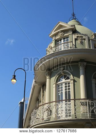 SAN JOSE, COSTA RICA - April 9: Maroy Building, example of Neoclassical architecture in Costa Rica, the building is an Architectural Heritage of Costa Rica. April 9, 2016 in San Jose.