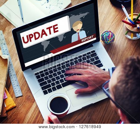 Update Trending Breaking News Report Information Concept