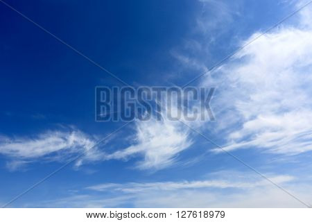 Nice cloudy sky in summer day