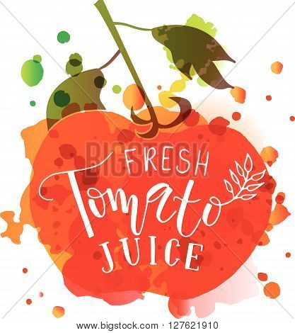 Hand Sketched 'fresh Tomato Juice' Lettering Typography
