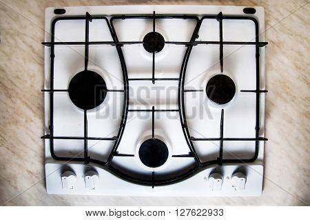Gas Stove, Top View