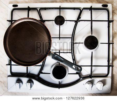Pan On Gas Stove