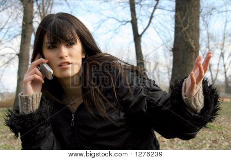 Lady und Telefon