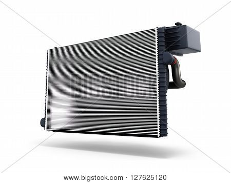Car Radiator Isolated On White Background 3D Render
