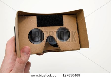 Virtual Reality Cardboard Glasses. Easy Way To Watch Movies In 3D