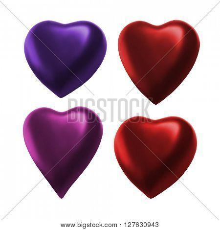 Color Heart. 3D rendering