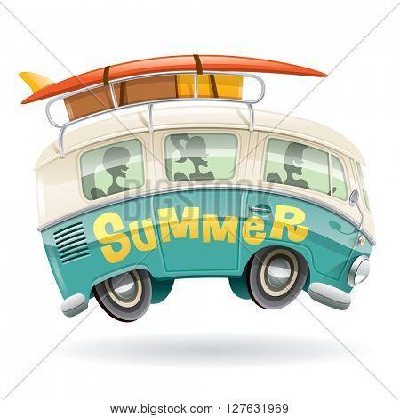 Camper van, summer vacation.