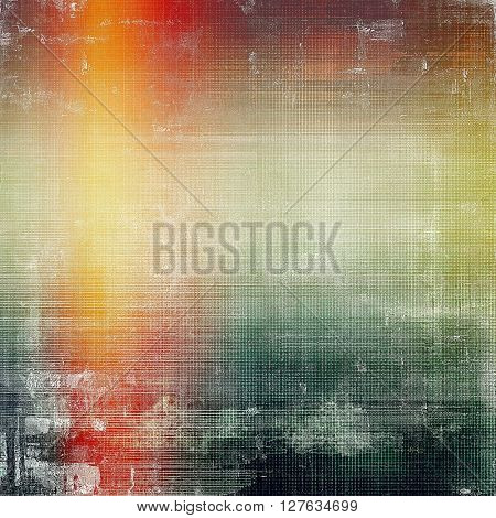 Grunge texture, aged or old style background with retro design elements and different color patterns: yellow (beige); brown; gray; green; red (orange); white
