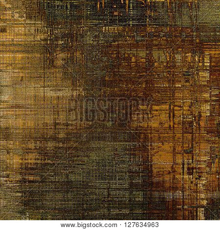 Creative elegant design used as retro background for your art project. With grunge texture and different color patterns: yellow (beige); brown; gray; black