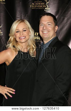 LOS ANGELES - APR 27:  Jessica Collins, Michael Cooney at the 2016 Daytime EMMY Awards Nominees Reception at the Hollywood Museum on April 27, 2016 in Los Angeles, CA
