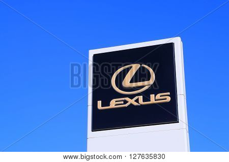 MELBOURNE AUSTRALIA - APRIL 24, 2016: Lexus car manufacturer.  Lexus is the luxury vehicle division of Japanese automaker Toyota which is marketed in over 70 countries worldwide.