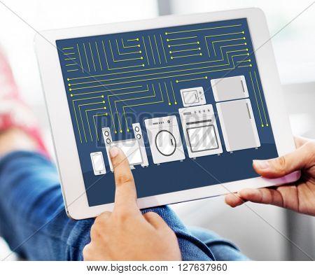 Circuit Contemporary Electric Technology Tech Concept