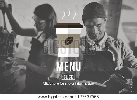 Menu Online Delivery Coffee Shop Concept