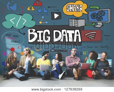 Big Data Online Internet Technology Concept