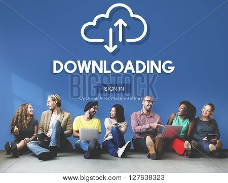 Downloading Technology Online Website Storage Concept