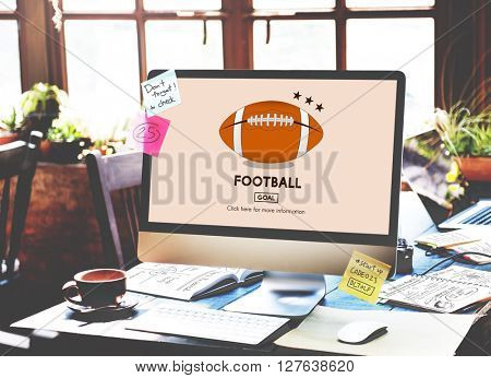 Football Game Ball Play Sports Graphics Concept