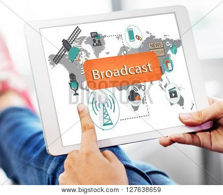 Broadcast Communication Entertainment News Concept