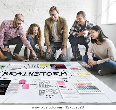 Brainstorm Inspiration Ideas Analysis Concept