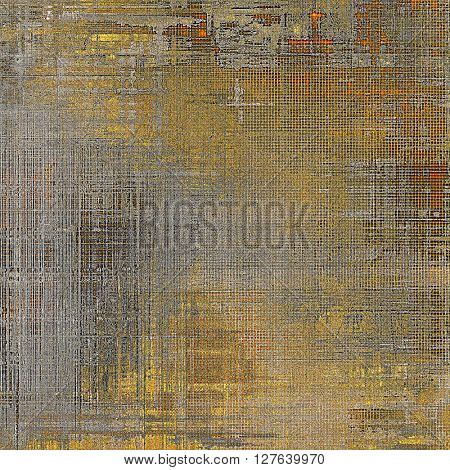 Elegant vintage background, grunge design template. Ancient texture with different color patterns: yellow (beige); brown; gray; red (orange)