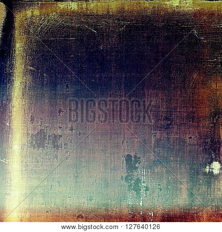 Retro abstract background, vintage grunge texture with different color patterns: yellow (beige); brown; blue; purple (violet); black; cyan