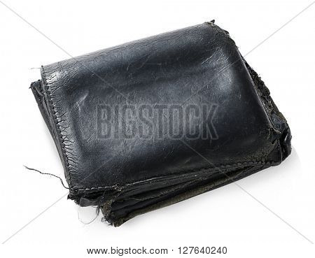 Old Used Wallet Isolated